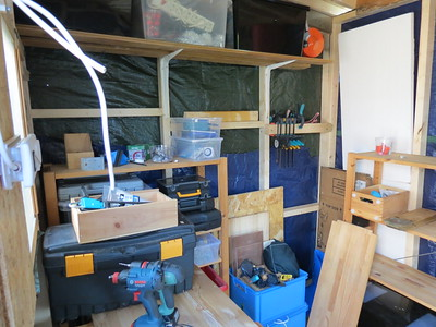 The interior starts to look like a tool-shed.