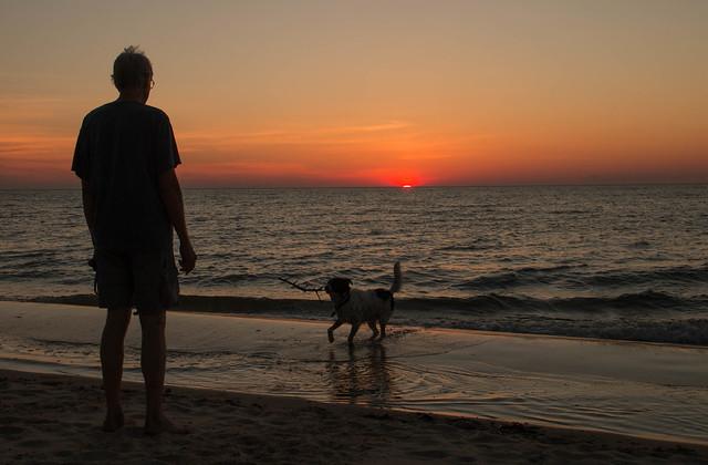 Man's Best Friend...On The Beach ** Explored 6/28/21!**