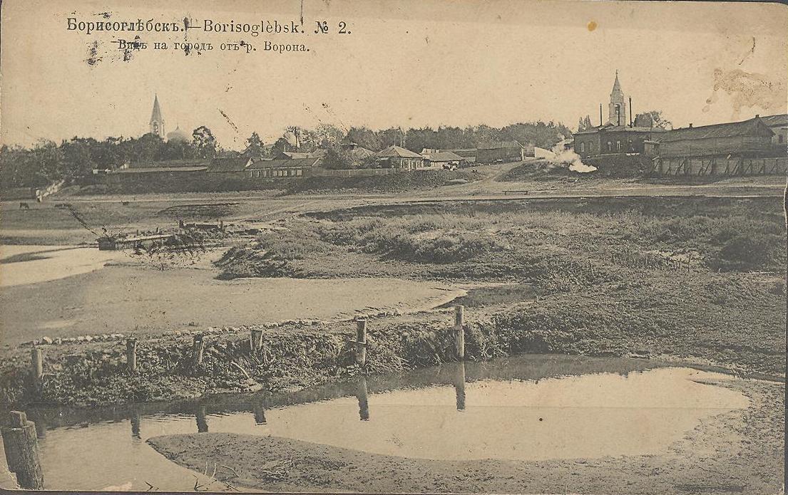 Вид на город от реки Ворона
