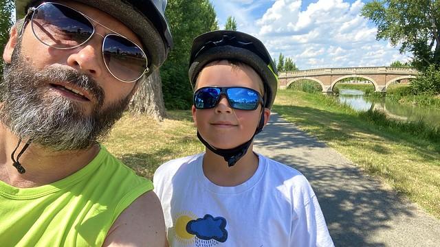 Bajk Kráľová bridge. Peter and me
