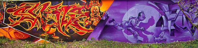 Graffiti 2021 in Ettlingen bei Karlsruhe Karlsruhe