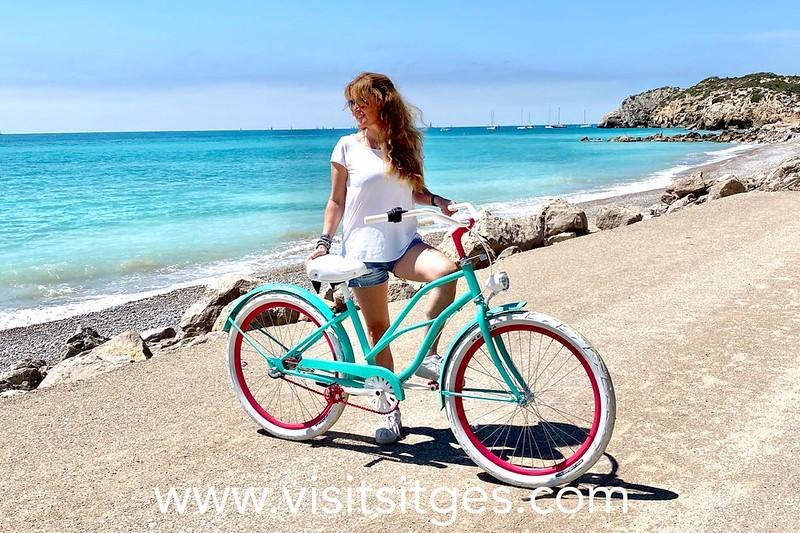 Sitges y la bicicleta, en  btt por el Garraf y cicloturismo