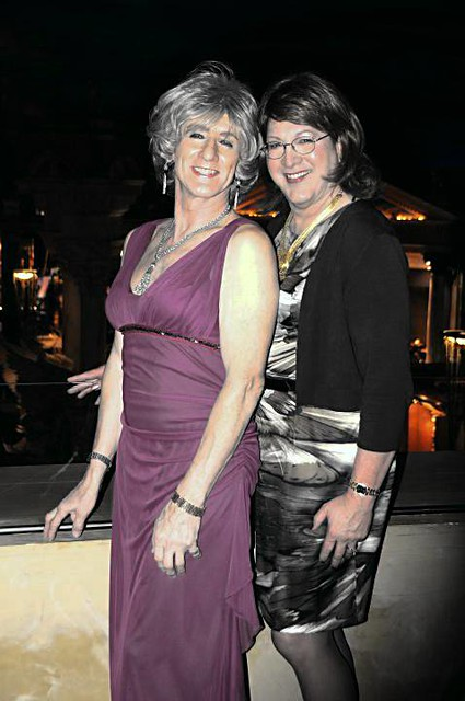 Me and Beverly out on the town.
