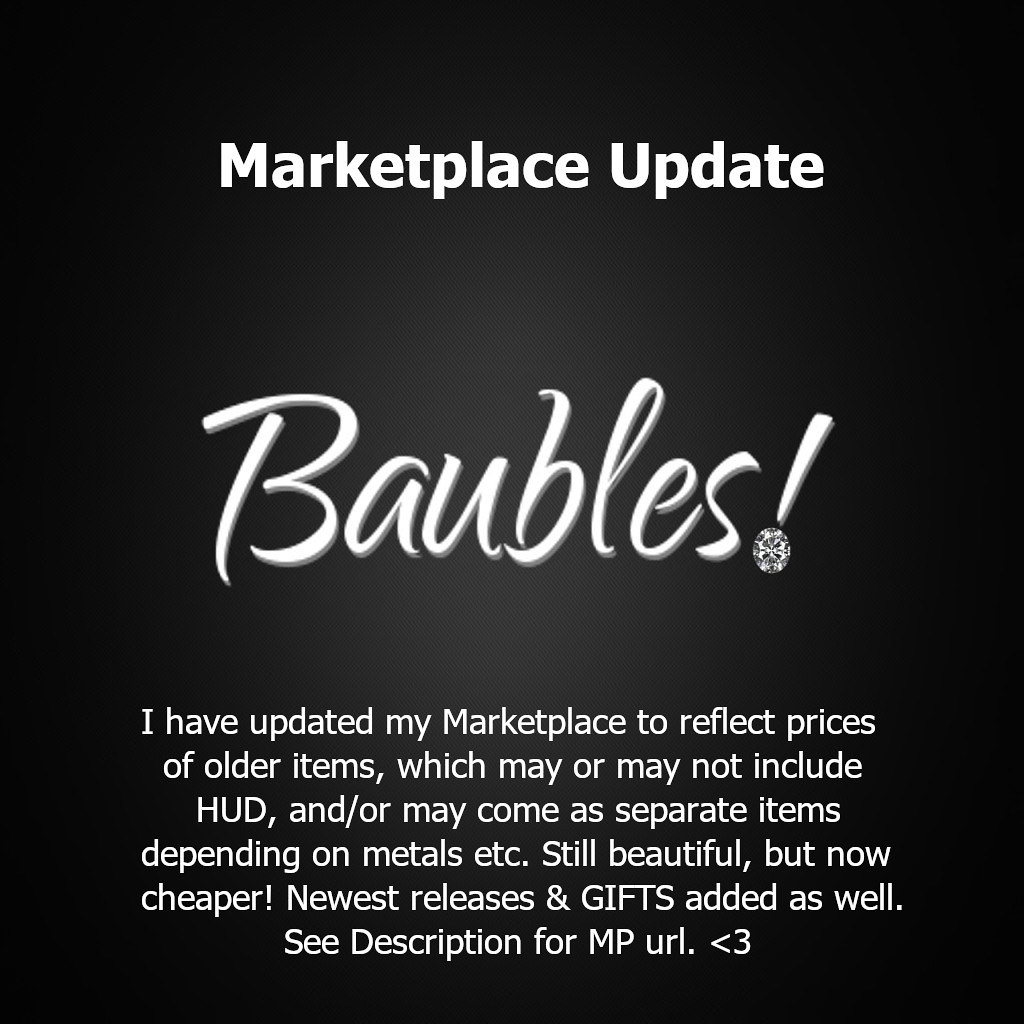 Baubles! Marketplace Update