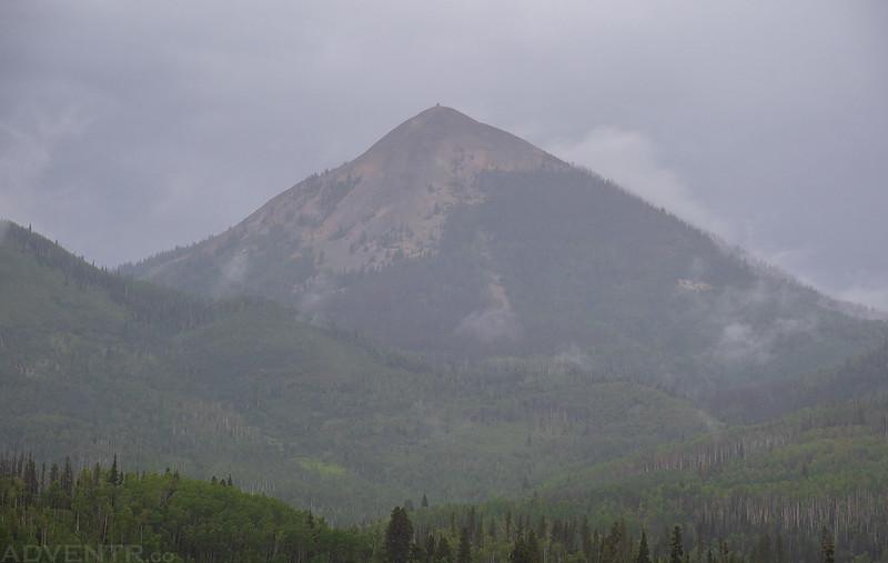 Hahns Peak in the Rain
