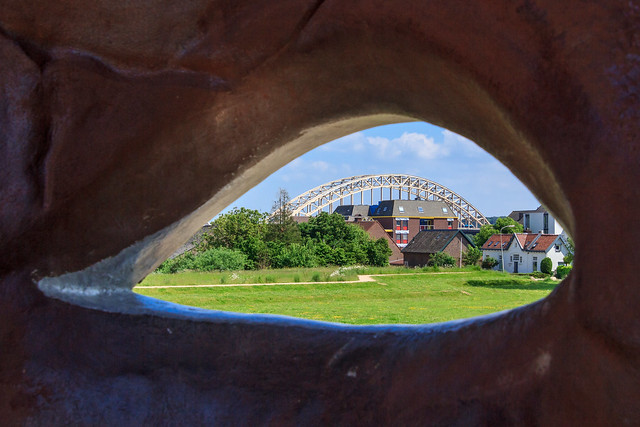 Het gezicht van Nijmegen - zicht op de Waalbrug