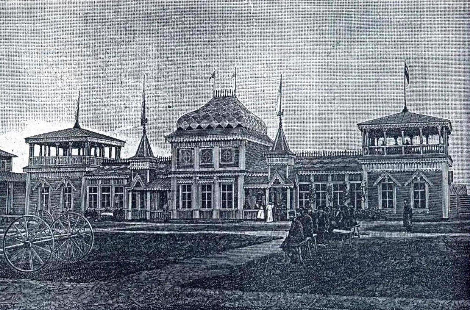 Главный павильон выставки 1890 года