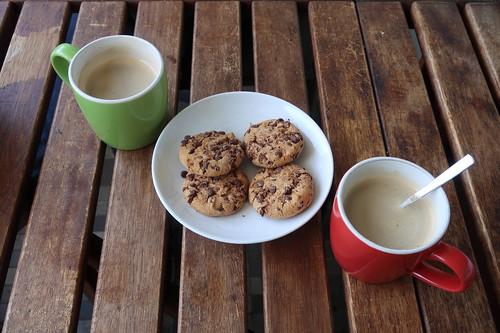Kaffeepause mit American Cookies