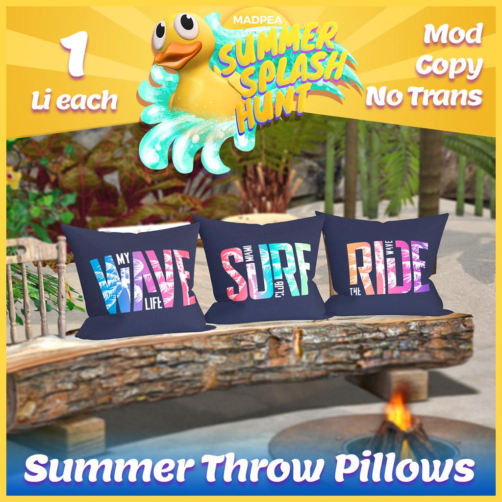 Summer Hunt Prize Reveal: Summer Throw Pillows