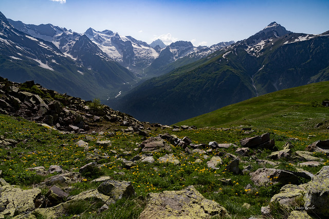 In the mountains of the North Caucasus