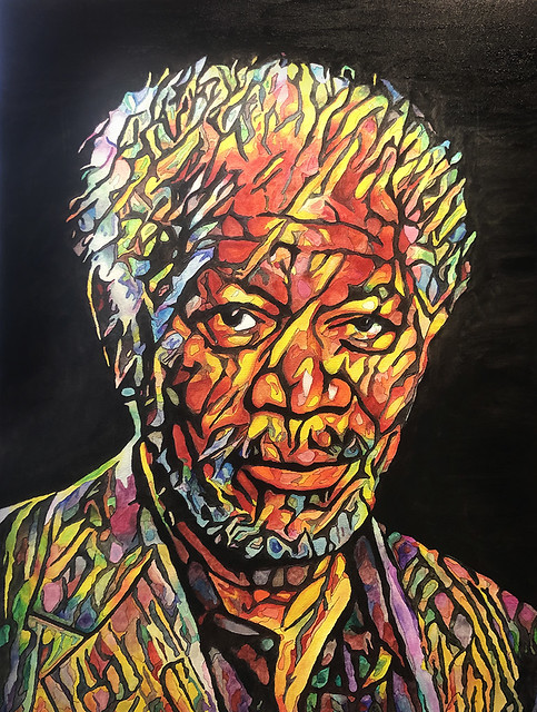 Morgan Freeman Painting