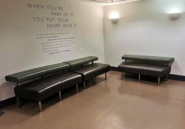 Waiting for the lift, John Lewis, Nottingham