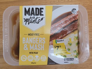 Made with Plants Bangers & Mash