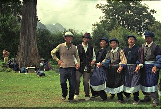 Naxi elders dancing