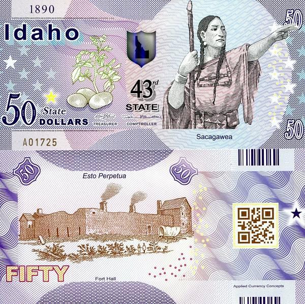 USA 50 Dollars 2015 43. štát - Idaho