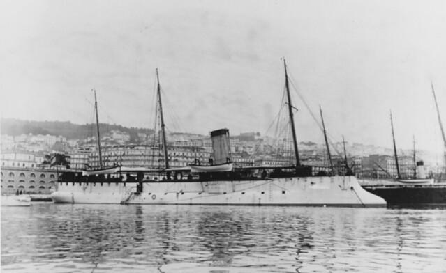 French Torpedo Cruiser Condor (1885-1907) at Algiers