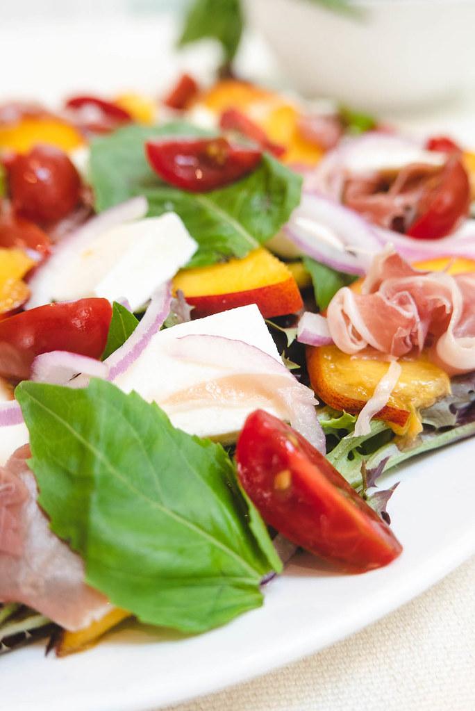 A close up shot of the salad.