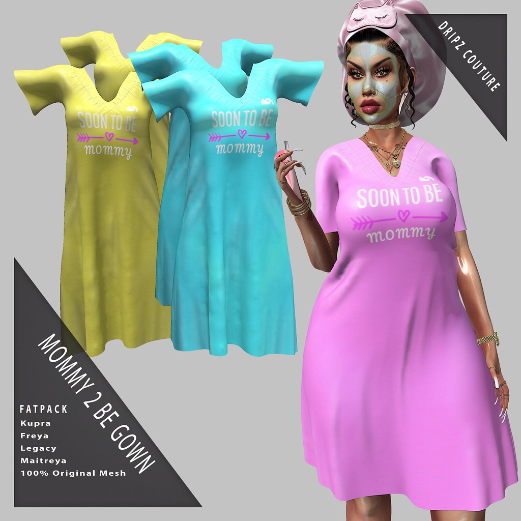 New! Mommy 2 Be Gown – Fatpack