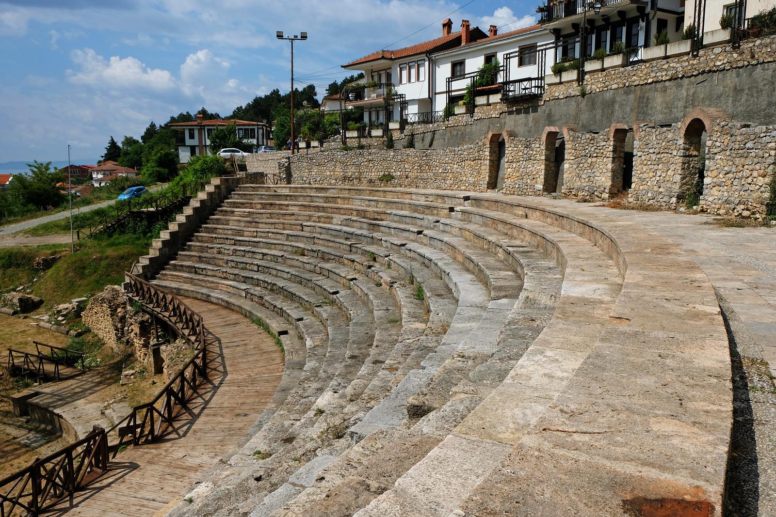 ancient theatre of Ohrid, North Macedonia