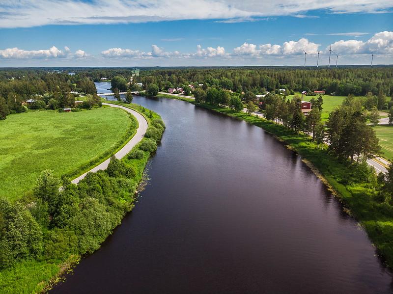River view in Vaasa's Vähäkyrö