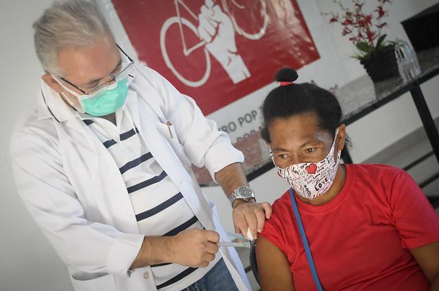 Vacinação contra a covid-19 para população em situação de rua no Centro POP de Taguatinga. (28.06.2021)