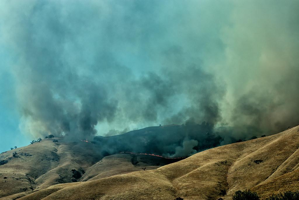 California Brush Fire - day