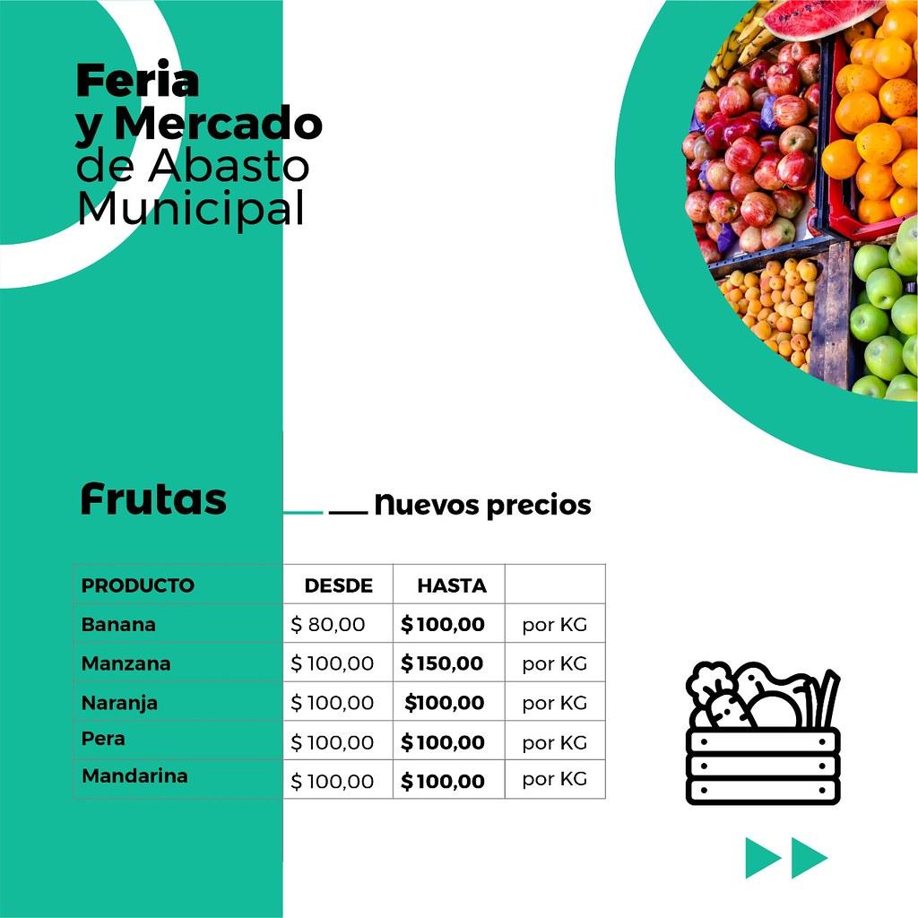 Precios frutas