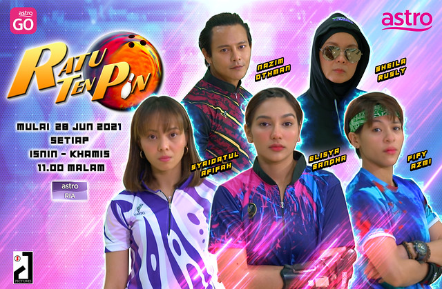 Sinopsis Drama Ratu Ten Pin Lakonan Elisya Sandha, Syaidatul Afifah &Amp; Fify Azmi