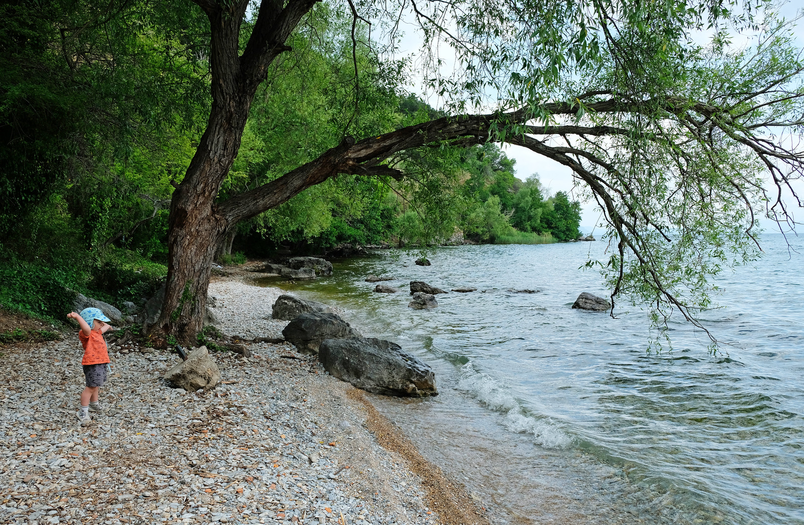 Labino Beach, Ohrid, North Macedonia