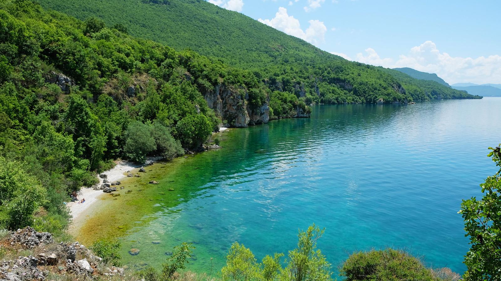 Hidden bay at Lake Ohrid, North Macedonia