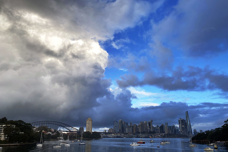 Rain clouds over Sydney