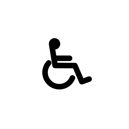 Accessibility wheelchair symbol.