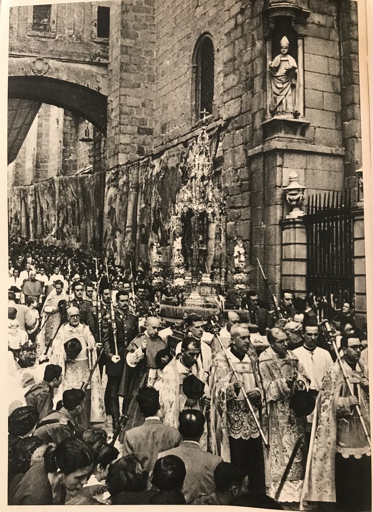Corpus Christi con la Custodia de Arfe a finales de los años 40. Foto de Afrodisio Aguado.