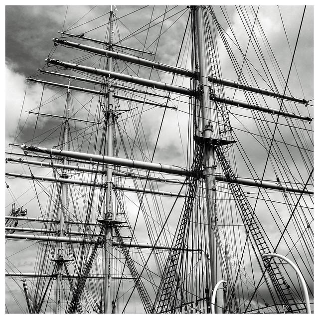 Takelage Nr. 2 (Detail of the sailing ship