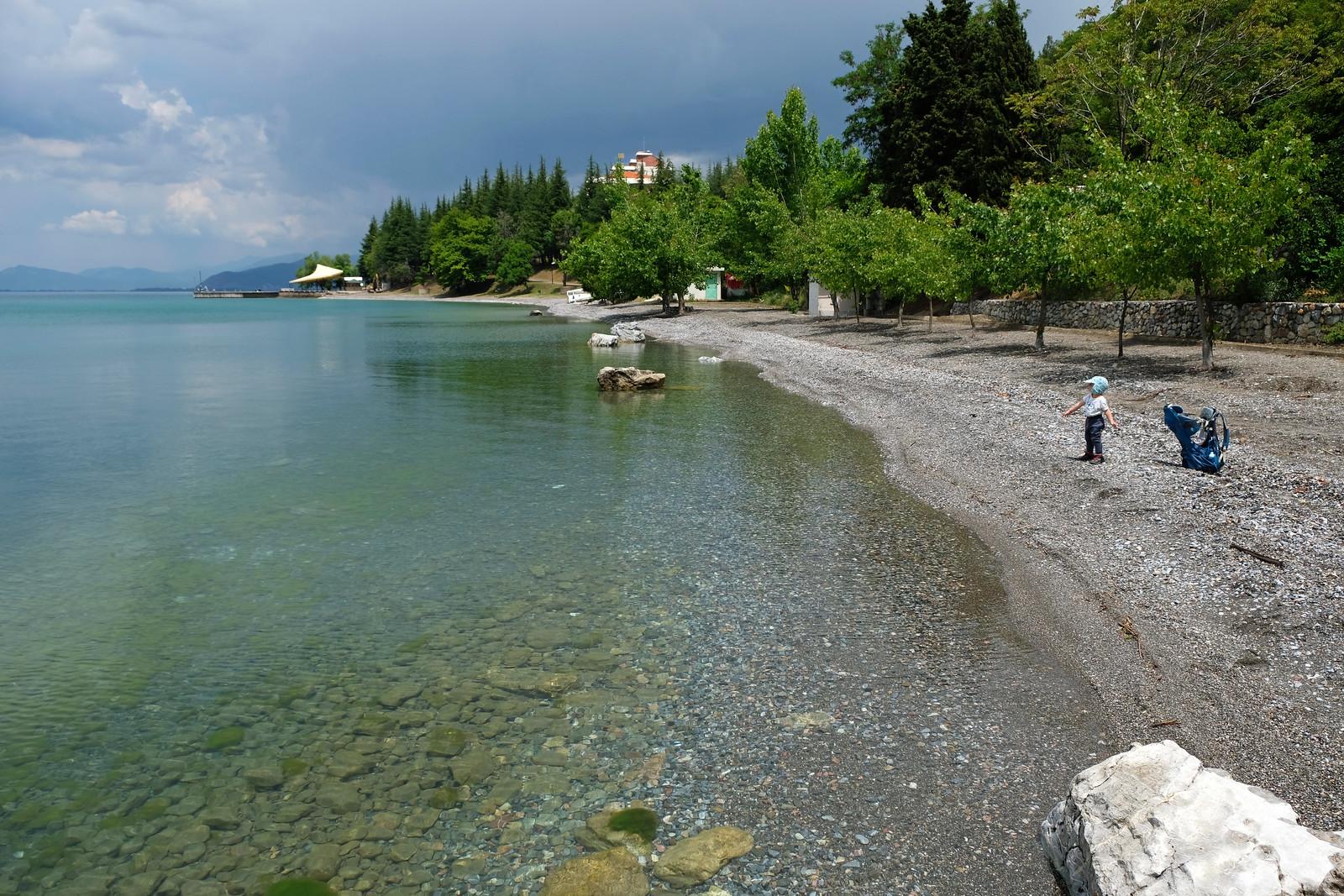 The first beach in Lagadin, North Macedonia