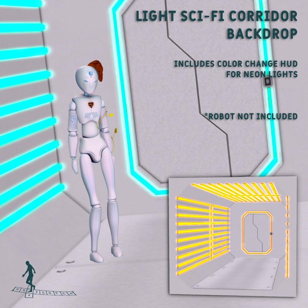Light SciFi Corridor Backdrop