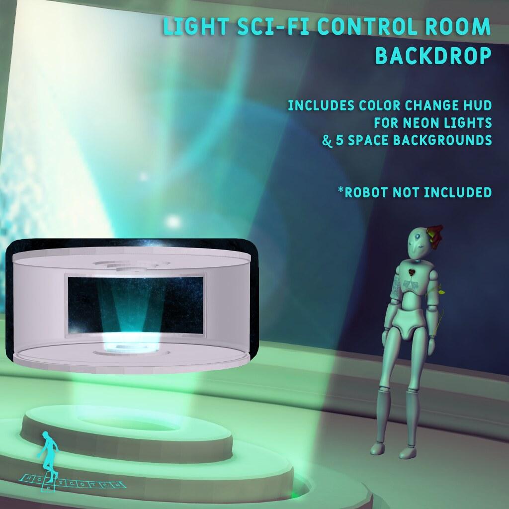 Light SciFi Control Room Backdrop