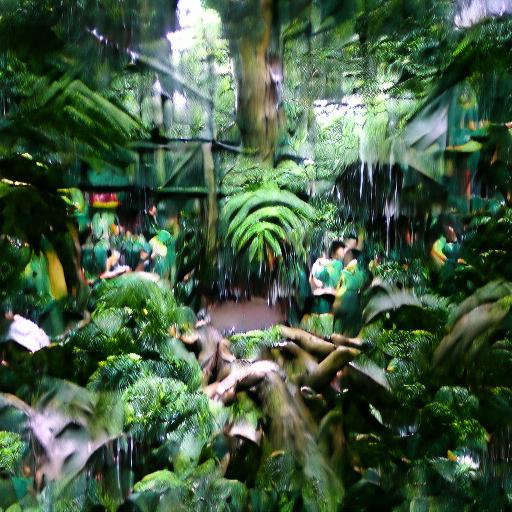 'rainforest' VQGAN Gumbel Text-to-Image