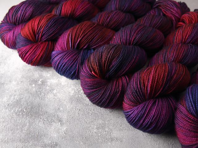Favourite Sock – pure merino wool superwash 4 ply/fingering hand-dyed yarn 100g – 'Jam Factory Incident'