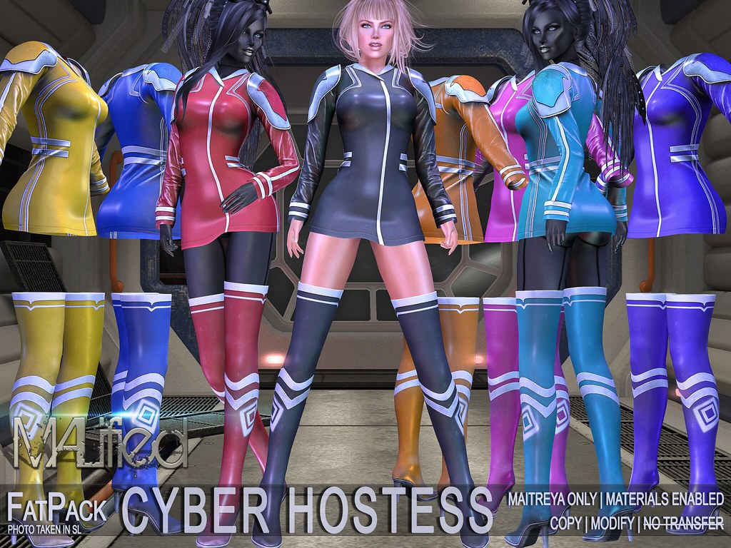 MALified – Cyber Hostess Outfits – FATPACK