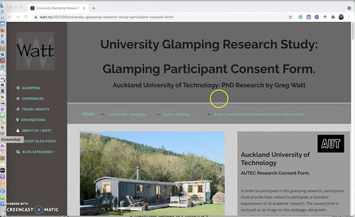 Go to the Glamping Participant Consent form webpage to fill out and send form to greg@watt.nz