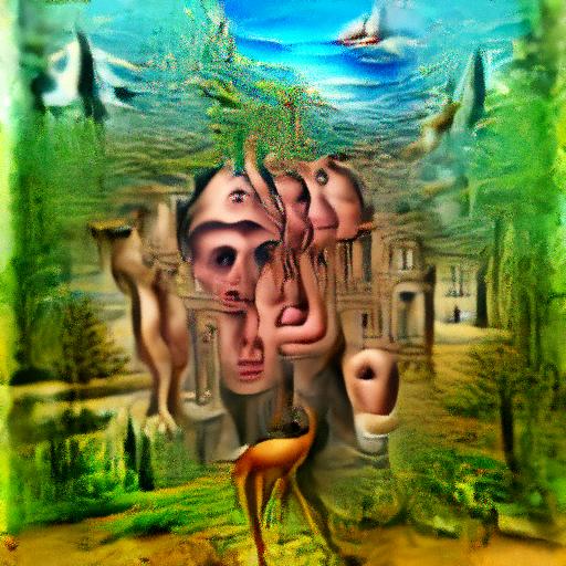'surrealism' OpenAI DVAE+CLIP Text-to-Image