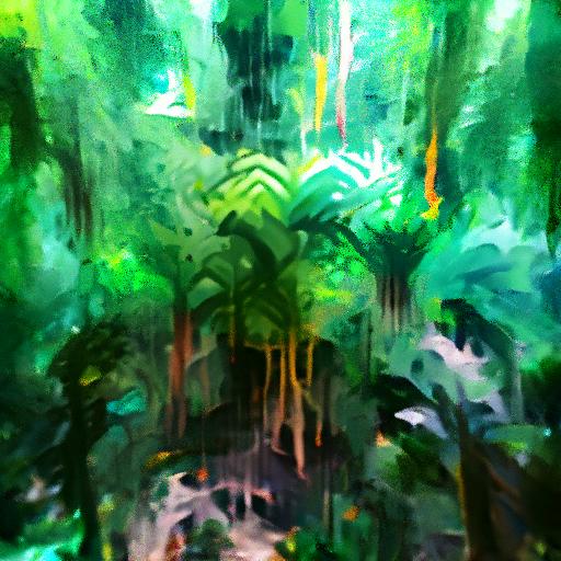 'rainforest' OpenAI DVAE+CLIP Text-to-Image