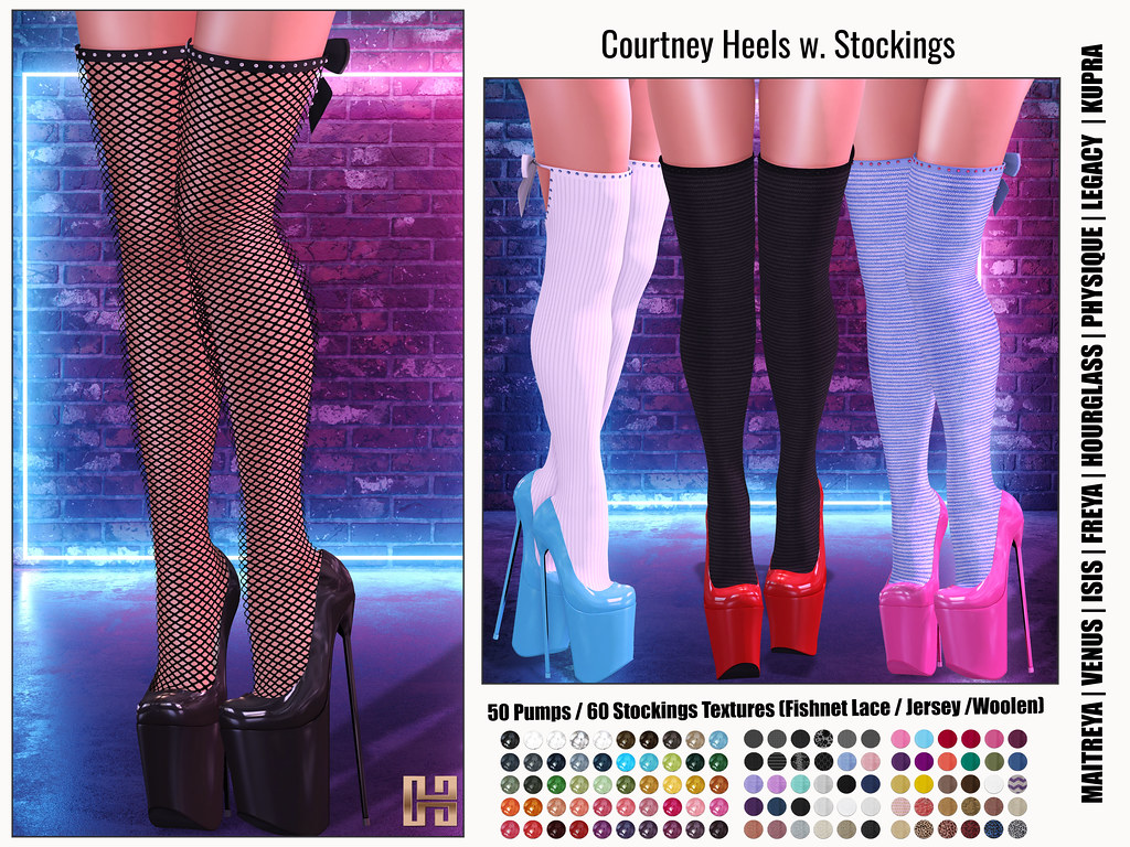 Hilly Haalan – Courtney Heels with Stockings