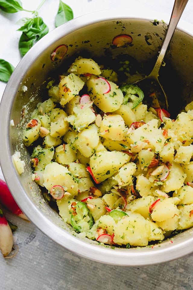Thai Basil Pesto Potato Salad