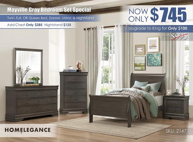 Mayville Gray Bedroom Set Special_2147_Homelegance