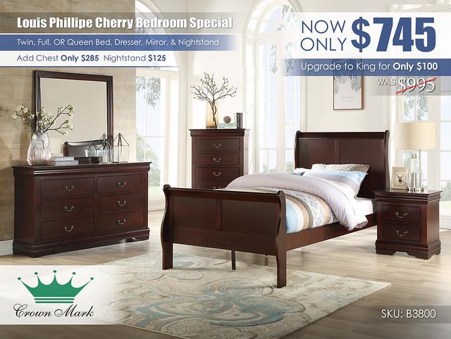 Louis Phillipe Cherry Youth Bedroom_B3800