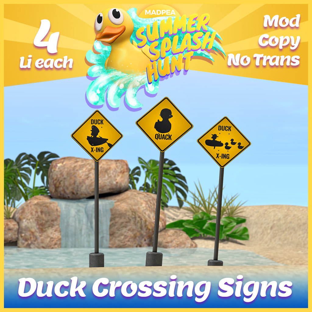 Summer Hunt Prize Reveal: Duck Crossing Signs