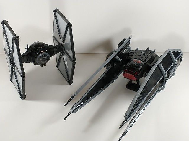 FO tie fighter and tie silencer