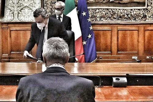 Incontro dei sindacati con il presidente del Consiglio, Mario Draghi su sblocco dei licenziamenti